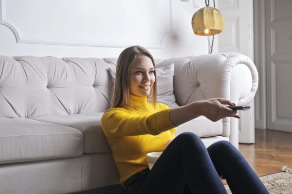 Happy tenant in comfortable home